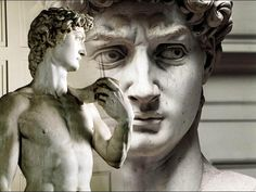 """Kolos Michała Anioła: Kunsztem Michała Anioła w wyrzeźbieniu marmurowego """"Dawida"""" w l. 1501-1504, mierzącego 434 cm wysokości (wył. podstawę) można się delektować  we Florencji w muzeum Galleria dell'Accademia (Galerii Akademii Sztuk Pięknych). Jego kopie znajdują się na Piazza della Signoria i na Piazzale Michelangelo. #włochy #sztuka #kultura #florencja #rzeźba #dawid"""