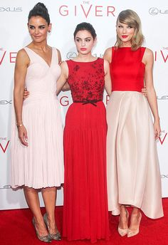 Katie Holmes, Odeya Rush, and Taylor Swift Color-Coordinate in Style at The Giver Premiere!