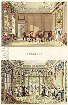 Interiors The Old Cedar Parlour and The Modern Living Room, from Fragments on the Theory and Practice of Landscape Gardening, pub. 1816. Sir Humprhey Repton