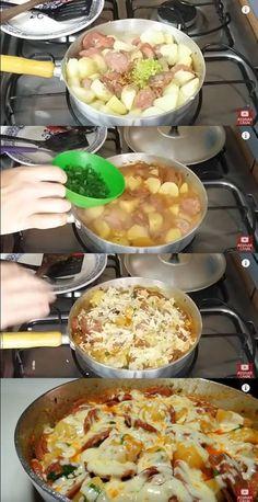 Batata com Linguiça Calabresa #batata #batatacomlinguiça #batatafácil #calabresa #receitadebatata