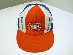 846b4f442ce Rare true vintage 80s Montreal Canadiens NHL hockey snap back trucker hat  jersey