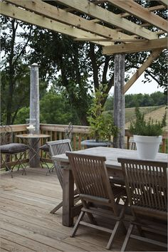Pergola for Redbud south side.....from   Ekster Antiques: Photos of Our Home & Farm