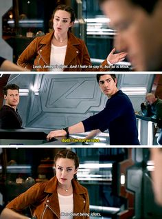 """""""Amaya's right. And I hate to say it, but so is Mick"""" - Sara, Nate, Ray and Mick #LegendsOfTomorrow"""