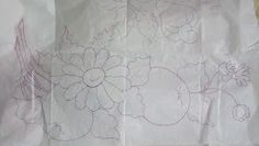 Pincel que brilha : Riscos da vídeo aula. Tapestry, Prints, Stencil, Home Decor, Floral, Crocheting Patterns, Brush Pen, Pansies, Fruit Painting