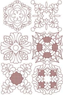 Advanced Embroidery Designs - Hawaiian Motif Applique Set.