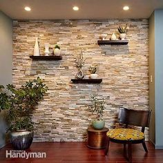 You Can Transform Any Room With A Stunning Stone Accent Wall Like This Modern Materialethods Allow To Create The Look Of Traditional Wal