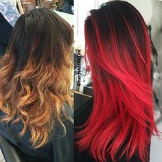 14. Black and Red Hairstyles