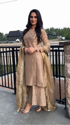 Nikkah Dress, Pakistani Dresses, Indian Dresses, Indian Outfits, Indian Designer Suits, Indian Designers, Embroidery Suits Punjabi, Western Outfits, Classy Dress