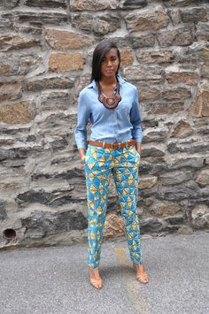 African Print Pants The Maddie Trouser by CHENBURKETTNY on Etsy