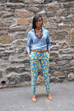 Pantalons imprimés africains-le pantalon de par CHENBURKETTNY