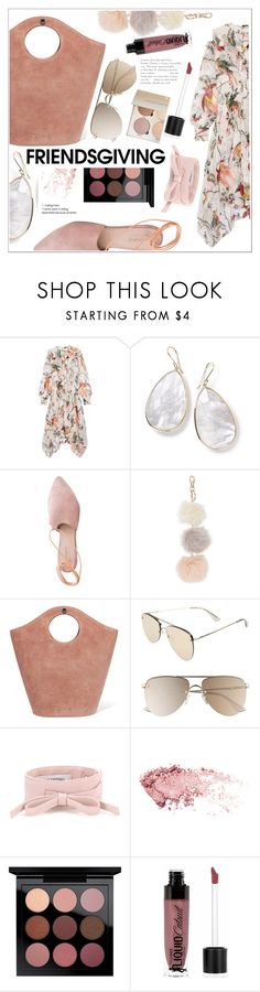 """Nude Pink"" by elenaafiya ❤ liked on Polyvore featuring Erdem, Ippolita, Summit, Elizabeth and James, Le Specs, Valentino, MAC Cosmetics and Wet n Wild"