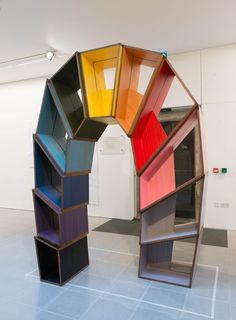 Martino Gamper curates exhibition at the Serpentine Sackler Gallery - love the rainbow-like design!