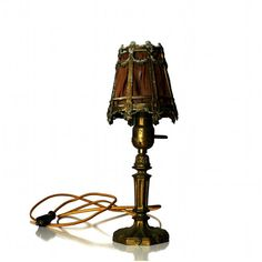 Antique Funeral Parlor Table Lamp