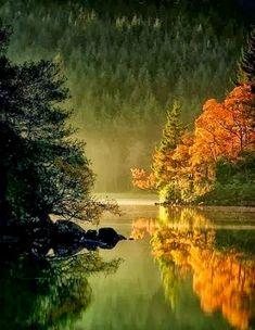Misty Loch Ard Scotland