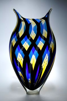 """Woven Foglio""        Art Glass Vessel                                                                              Created by                          David Patchen"