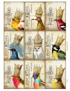 YOUR MAJESTY Digital Collage Sheet Instant Download by GalleryCat