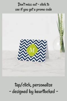 Shop Blue & Green Zigzags Pattern Monogram Note Card created by heartlocked. Personalized Note Cards, Personalized Stationery, Office Stationery, Zig Zag Pattern, Monogram Initials, Office Gifts, Folded Cards, Pink And Green, Paper Texture