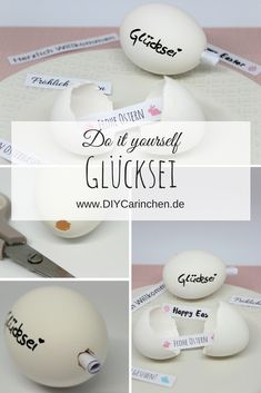 Simply make DIY lucky egg yourself with individual messages - Diy Decoracion Ostergeschenk Diy, Easy Diy, Messages, Easter Party, Cute Gifts, Diy Art, Easter Eggs, Christmas Diy, Diy And Crafts