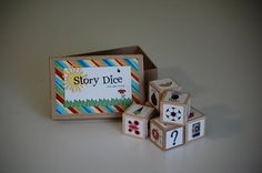 Story Dice - would be great for verbal storytelling and then working up to written stories