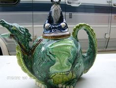 Dragon Rider Teapot. $35.00, via Etsy.