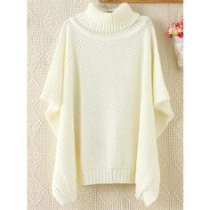 Batwing Sleeves Loose Jumper ($28) ❤ liked on Polyvore featuring tops, sweaters, loose white top, loose fit tops, white jumper, white sweater and loose sweaters