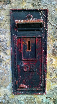 Post box in Lustleigh Devon UK Photo by Aisling Eyre