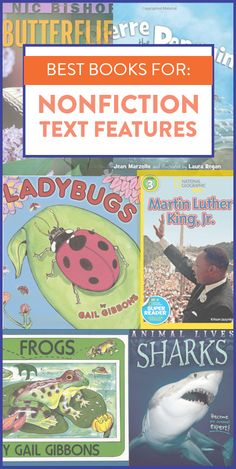 This unit includes 72 different read alouds and lesson plans for tons of different picture books! Each book is chosen to highlight and teach a specific skill. The books above are some favorites for teaching nonfiction text features. Click over and download the preview to try a FREE lesson!