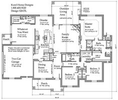 2615 sq ft. Great laundry room. Large room for exercise equipment. Beautiful exterior. House Plans by Korel Home Designs