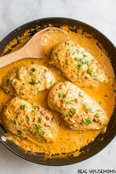 Finished Creamy Chipotle Chicken in a skillet with sauce