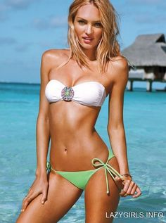 candice swanepoel...favorite victoria secret model...also want this swim suit really bad. hah