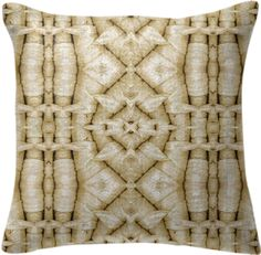 Pillow  with flowers in latte color from Print All Over Me
