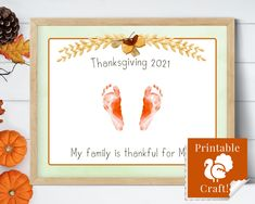 Handprint Thanksgiving Card, Keepsake for Baby, Craft for Kids, Happy Thanksgiving 2021 Activity, My Family is Thankful for ME! by HolaSunshineDesigns on Etsy Baby Crafts, Toddler Crafts, Crafts For Kids, Babys First Thanksgiving, Thanksgiving Cards, Floral Printables, Printable Crafts, Simply Stamps, Easy Arts And Crafts
