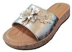 Born Dottie Floral Gold Metallic Slides 8M *** Click on the image for additional details.(This is an Amazon affiliate link)