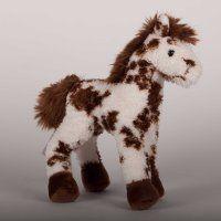 Stoney Brown & White Appalossa Plush Horse - 9