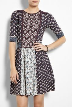 Shell Collage Knit Dress by M Missoni