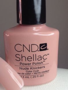 "CND Shellac's new colour ""Nude Kickers"". Perfect for a wedding."