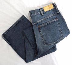 GUCCI Jeans 34 x 33 Blue Authentic Classic Straight Leg Indigo Denim Cotton EUC #Gucci #ClassicStraightLeg