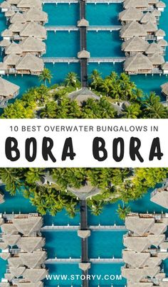 10 Dream Overwater Bungalows In Bora Bora For Couples Are you thinking about going on a romantic adventure with your other half? Consider staying in one of these magical overwater bungalows in Bora Bora… (click through to read now! Romantic Destinations, Romantic Vacations, Romantic Getaways, Honeymoon Destinations, Romantic Travel, Dream Vacations, Honeymoon Ideas, Honeymoon Clothes, Honeymoon Places