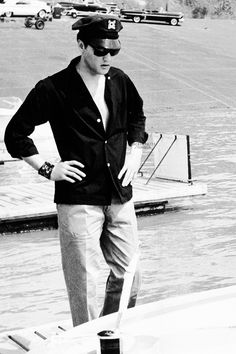 Elvis photographed by Fred Griffith at the McKellar Lake, Memphis, TN, July 8, 1960.