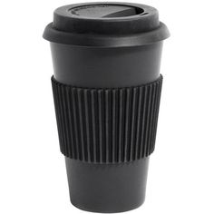 Homage Bamboo Takeaway Cup Black (760 RUB) ❤ liked on Polyvore featuring home and kitchen & dining