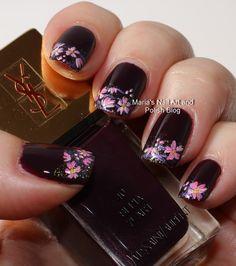 Marias Nail Art and Polish Blog: Sepia floral French nail art