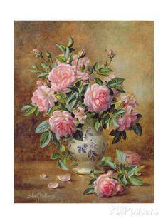A Medley of Pink Roses Impressão giclée por Albert Williams na AllPosters.com.br