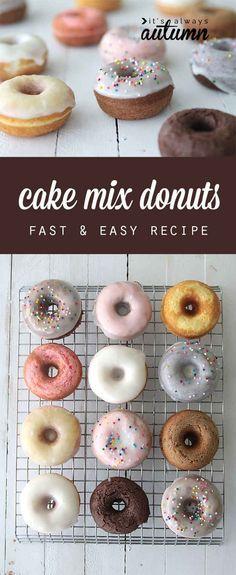 (Baked) Cake Mix Doughnuts