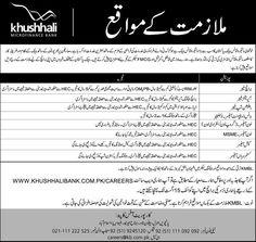 Khushhali Microfinance Bank announced new Jobs Apply online http://ift.tt/2v8mQNs