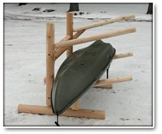 This two place kayak rack is great rack for the cabin. It holds two kayaks, canoes, or paddle boards Kayak Storage Rack, Kayak Rack, Boat Storage, Storage Cart, Storage Ideas, Kayak Paddle, Canoe And Kayak, Kayak Fishing, Kayaks