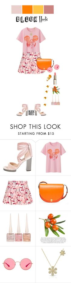 """Untitled #1392"" by k-hearts-a ❤ liked on Polyvore featuring Valentino, Uniqlo, RED Valentino, Victoria Beckham, Christian Louboutin, Ray-Ban, Cassandra Goad and blockheels"