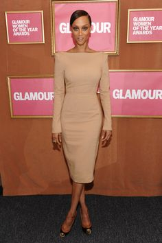 Tyra Banks in Sharp Sophistication
