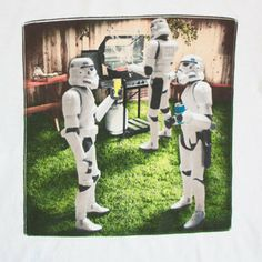 I made this with my lil toy storm trooper. Enjoy your bbq! Star Wars Stormtrooper Barbecue Funny Shirt: Star Wars Stormtrooper Barbecue Funny Shirt