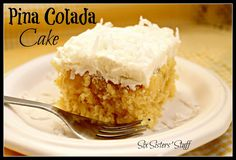 This cake is a family favorite! It's so moist and delicious! #pinacolada #cake