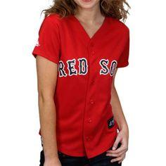 Majestic Boston Red Sox Ladies Red Replica Baseball Jersey